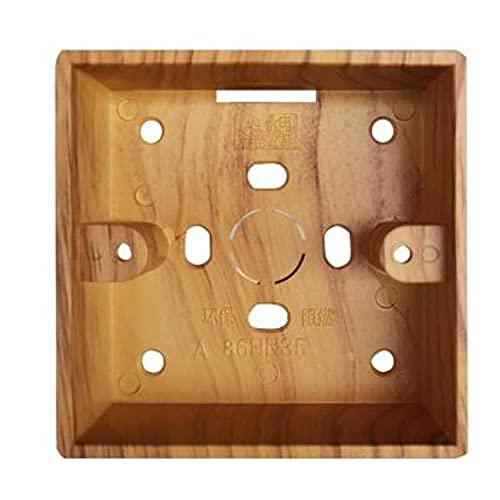 YIJIAO Interruptor de palanca Vintage Grano de madera amarillo 1-4 Palanca de latón con forma de cuadrilla Panel de interruptor de luz de pared de control dual único