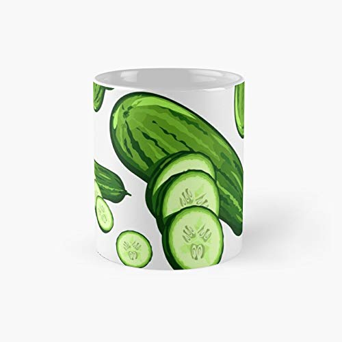 Veggiephile - Cucumbers Classic Mug Best Gift Funny Coffee Mugs 11 Oz