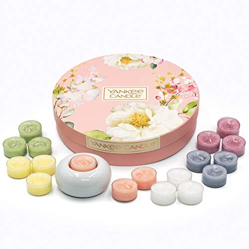 YANKEE CANDLE Collezione Garden Hideaway Set Regalo Tea Light, 18 lumini profumati