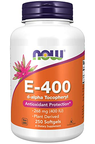 NOW Vitamina E-400 D-Alpha Tocoferil 250 Softgels - 100 g
