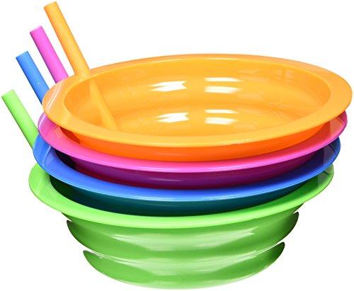 Arrow Plastic Sip-A-Bowl 22 oz, Assorted Colors - Pack of 4