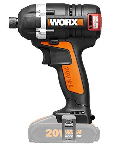 WORX WX borstelloze accu slagschroevendraaier 20V LED-licht schroefwerkzaamheden/zonder accu & oplader 175 Nm draaimoment 175 Nm Drehmoment zwart/oranje