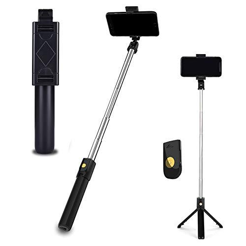 EasyULT Bastone Selfie Treppiede, 3 in 1 Estensibile Portatile Selfie Stick, Rotazione con Telecomando Wireless Rimovibile...