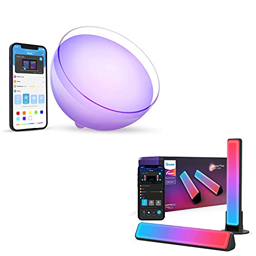 Govee Smart Light Bars Bundle with Govee Bluetooth Portable Table Lamp, App Control, Lights and Music Sync,for Bedroom and Living Room