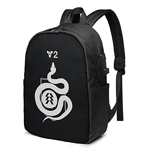 Ghost Striker Destiny 2 regalos de moda USB mochila unisex portátil mochila de viaje durable impermeable escuela estudiantes universitarios Merchansie para fans