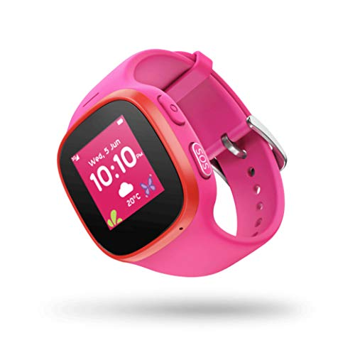 V-Kids Watch by Vodafone - Smartwatch met GPS-tracker en SOS-alarmknop, Roze