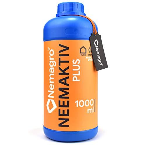 NEMAGRO® Neemaktiv - Neemöl/Niemöl mit Emulgator Rimulgan -1000ml / 1L - (Neem Öl, Neemöl für Pflanzen, oel, oil, nem öl, neem plus, neem extrakt, neemöl spray)