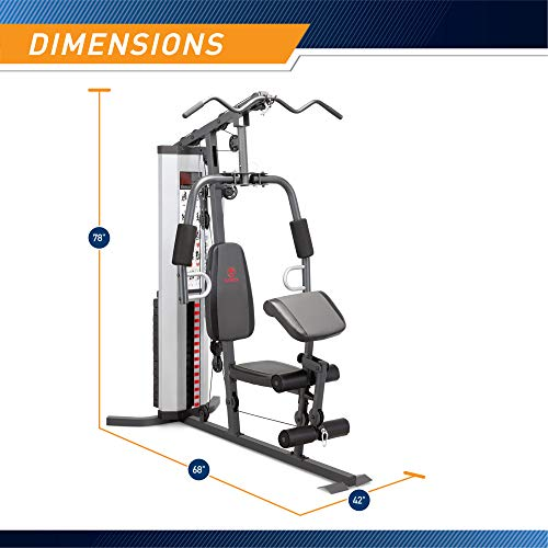 Product Image 2: Marcy MWM-988 Multifunction Steel Home Gym 150lb Weight Stack Machine