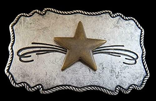 New popularity Cowboy Cowgirl Sheriff Western Shooting Star Belt Buckle A surprise price is realized