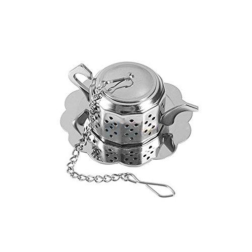 Merssavo Acier inoxydable Vrac Feuilles de thé Infuseur Boule Passoire filtre à herbes diffuse NEUF X 1
