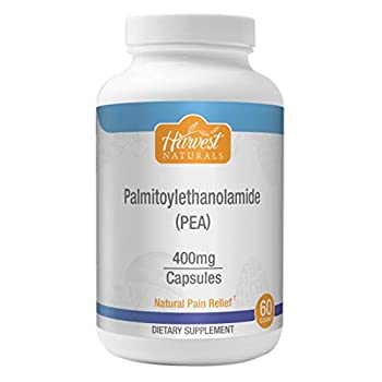 Palmitoylethanolamide  Pea  - Natural Pain Relief Capsules 400mg - Anti-Inflammatory Supplement 60ct - Harvest Naturals