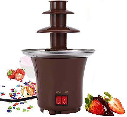 YHX Mini-Schokoladenbrunnenmaschine, Elektrisches Schokoladenfondue-Set 3-Stufige Edelstahlschmelzmaschine Für Partyhochzeiten, Braun