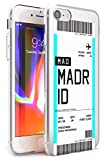Case Warehouse embarque Personalizada Bono de Entrada: Madrid Slim Funda para iPhone 6 TPU Protector Ligero Phone Protectora con Personalizado Viajero Pasión De