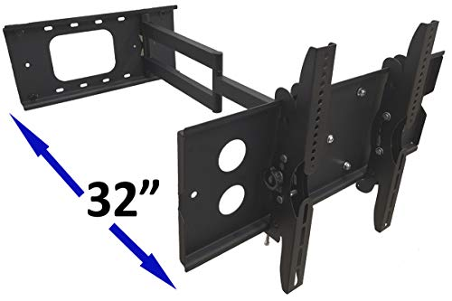 FORGING MOUNT Long Arm Corner TV Mount Full Motion Articulating Wall Mount TV Bracket with 32 inch Extension for Corner/Flat Installation Fits 42