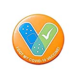 Yicdfur ブローチバッジ 接種済み ワクチンボタンピン ワクチン受信者への通知 ピンボタン接種 ピン バッグ シャツ 記念 ユニーク 男女兼用 (3#)