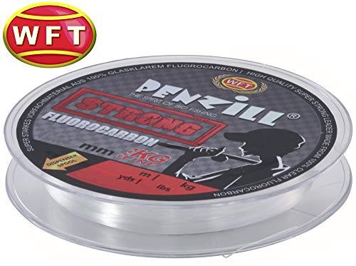 WFT Penzill Strong Fluorocarbon 100m - Vorfachschnur für Spinnvorfächer, Fluoro Carbon Schnur für Vorfächer, Angelschnur, Durchmesser/Tragkraft:0.20mm / 3.1kg Tragkraft