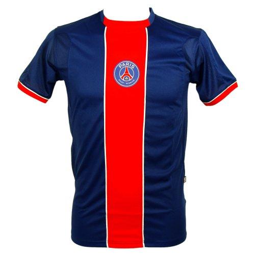 PSG - Maillot de Football Homme PSG Officiel - Bleu, Rouge - Taille : S