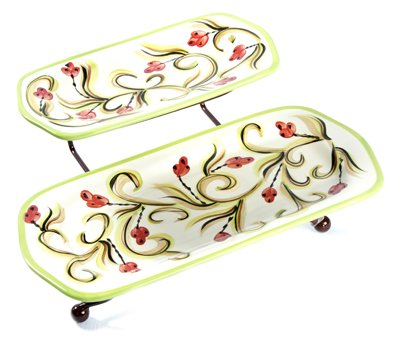 Gail Pittman Honeysuckle Iron Stand With Platters -  Gail Pittman Designs
