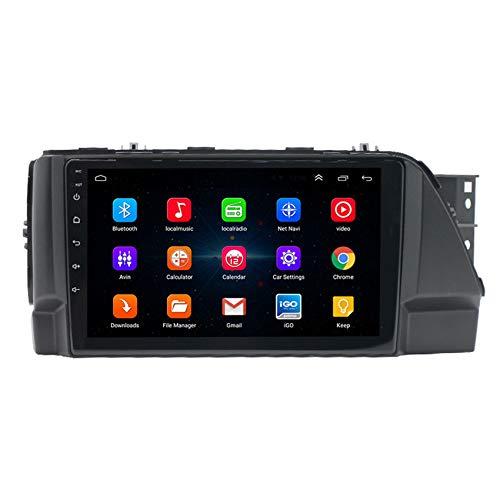 Amimilili 9 Pulgadas Autoradio Radio De CocheAndroid 9.0 para Hyundai Verna 2017 GPS Sat Nav Soporte WiFi USB FM Mandos del Volante Manos Libres Bluetooth,4 Cores WiFi:1+16g