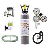 *OCOPRO CO2 Anlage DLX-350 Plus Aquarium mit Nachtabschaltung & VOLLE 2kg Mehrwegflasche