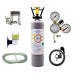 OCOPRO-CO2-Anlage-DLX-350-Plus-Aquarium-mit-Nachtabschaltung-VOLLE-2kg-Mehrwegflasche