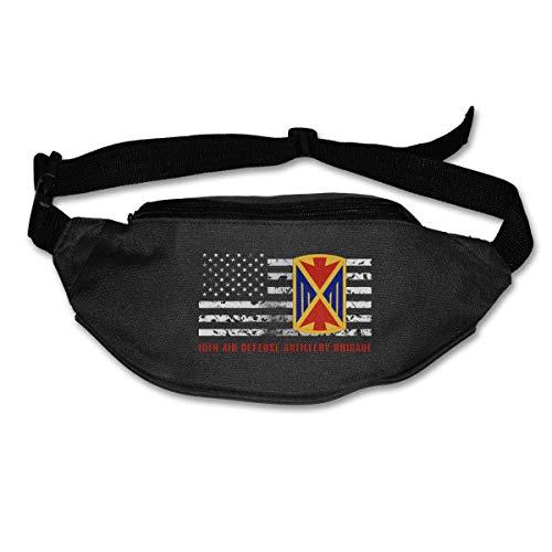 Riñonera Deportivo Bolso Cintura Cinturón Ajustable Running Belt Bolsa de Correr Décima Brigada de Artillería de Defensa Aérea