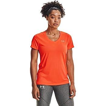 Under Armour Tech V-neck Short-sleeve T-shirt Blaze Orange  825 / Metallic Silver X-Large