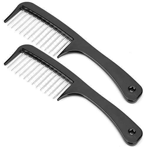 Peine, con productos de protección de aguja de acero ABS + peine de dientes ancho