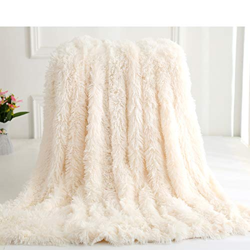 YUNSW Plush Blankets Soft Faux Fur Blankets, Plush Tv Blankets, Plain-Colored Sofa Blankets, Warm Bed Linen, Comfortable Blankets