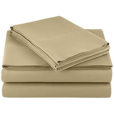 AmazonBasics Microfiber Sheet Set, Cal King, Olive