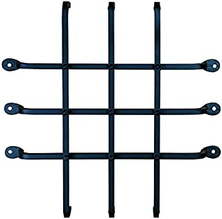 Large Speakeasy Grille, Window Grille, Forged Iron (sale price)