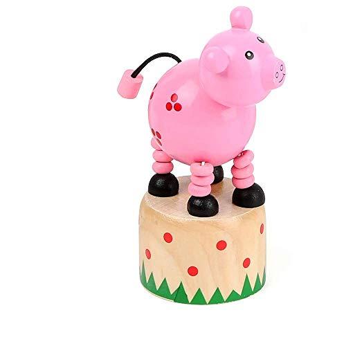 small foot 11156 krukfiguur varken van hout, FSC 100%-gecertificeerd, speelgoed, meerkleurig