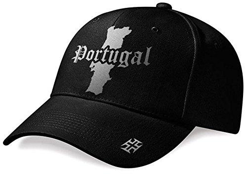 DASHOP Casquette Portugal Mini Pays Noir et Argent Métallisé