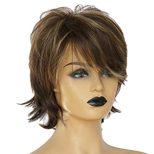 MERIGLARE Perruques Naturelles De Coupe De Cheveux Humains Pour Les Femmes - 12 pouces