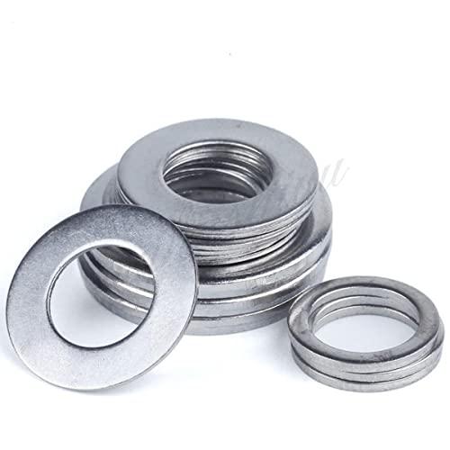 1-100 piezas A2 304 junta plana de arandela plana de acero inoxidable para M1.6 M2 M2.5 M3 M4 M5 M6 M8 M10 M12 M16 M20 M24 perno de tornillo