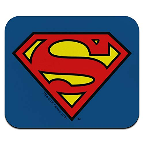 Superman Classic S Shield Logo Low Profile Thin Mouse Pad Mousepad