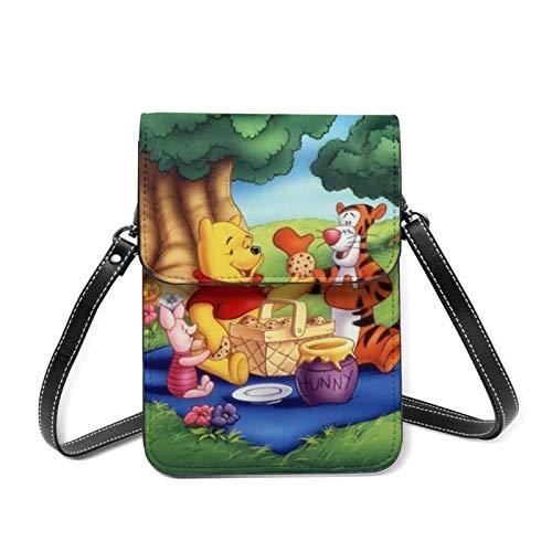 XCNGG Winnie Pooh Handy Geldbörse Umhängetaschen Frauen Männer Teen Kleine Brieftasche Mit Abnehmbarem Schultergurt