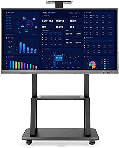 TV Rack Stand Wall Bracket Heavy Duty Rolling TV Stand with 2 Shelf Mobile Universal TV Trolley Stand for LED/LCD/Plasma Flat Height Adjustable 32/49/55/65 Inch TV Rack Beautiful Home