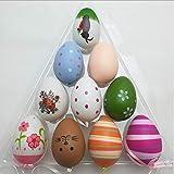 homo trends - set di 18 decorazioni per albero di pasqua, in plastica, a forma di uova di pasqua