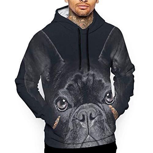 geckor Schwarzer englischer Bulldoggen-UnisexHoodie-Neuheit kühle Lange Hülsen-Pullover-große Taschen mit Kapuze lustiges Druck-Sweatshirt S