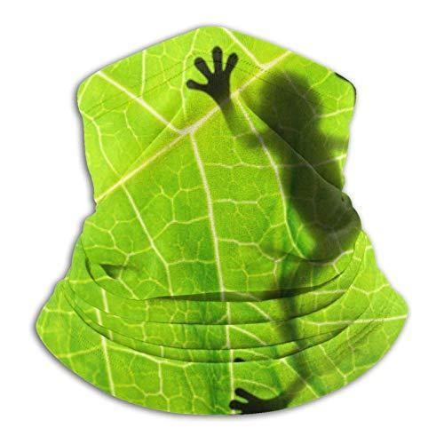 Eliuji Pasamontaas reutilizables de rana en hoja verde primavera clsico polainas de cuello para adultos senderismo museo aqu y all