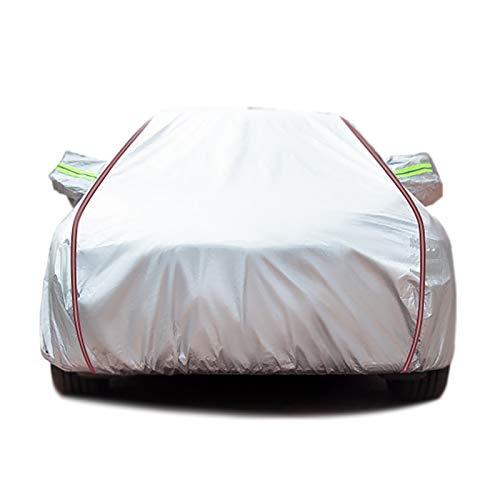 Autumn Wind Compatible con la Cubierta de Coche Dacia, Revestimiento de Coche con Pelusa Gruesa, Tapa de carrocería Universal SUV/Coupe Resistente a la Lluvia(Logan, Silver)