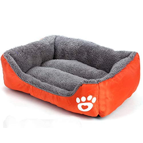 Comfortabele Huisdieren Bed Homes For Pets Deluxe huisdierenbedden Keep Warm hond of kat Bed loungebank Verwisselbare Cover Suede Matras Memory Eenvoudig onderhoud Machine Wash & Dry (6 kleuren) Huisd