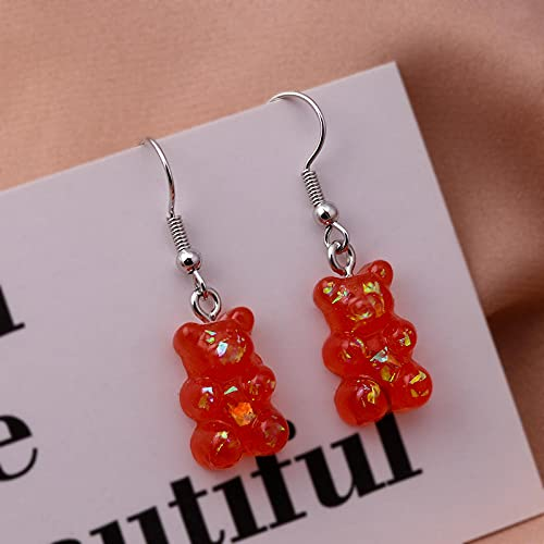 XAOQW Little Bear Pendientes Femeninos Multicolor Little Bear Party Jewelry Gifts-As The Picture