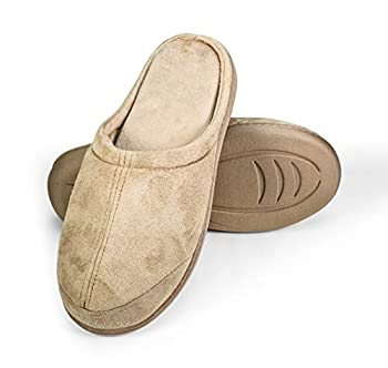 WalkFit Platinum Total Comfort Slippers Women's or Men's House Shoes Memory Foam for Use Indoor/Outdoor with Anti-Skid Rubber Soles Unisex Camel/Tan Color  Large