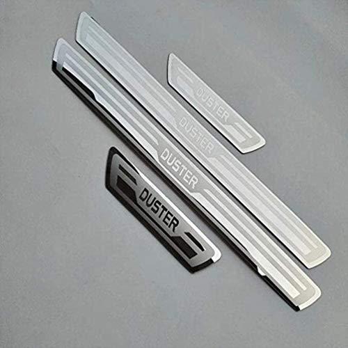 4Pcs Car Edelstahl Einstiegsleisten, für Renault Dacia Duster 2010-2020 Kick Plates Türschwelle Protector Pedal Aufkleber, Auto Kratzschutz Abdeckung Dekor Styling Zubehö