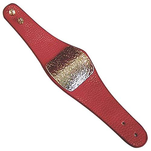 TOOGOO Pulsera Ancha de Cuero Pu de Color SóLido Personalizado Pulsera Salvaje Pulsera JoyeríA de Pareja para Hombres y Mujeres-Rojo
