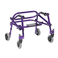 Inspired by Drive Nimbo 2G Lightweight Posterior Walker with Seat, Wizard Purple, Extra Small