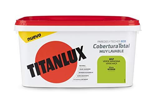 Titanlux - Pintura Plástica Cobertura Total Cubeta 4L (1017 Verde Manzana)
