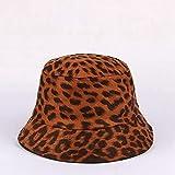 YSWG Sombrero de Verano señoras Versión Leopardo Mujer Pescador Sombrero Moda Al Aire Libre Marea Casual Primavera Otoño Casera Casquillo Adulto (Color : 02, Size : One Size)